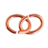 Jump Ring Oval 4X5mm 21gauge Plated Copper